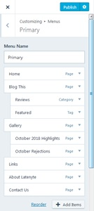 WordPress Menu 01